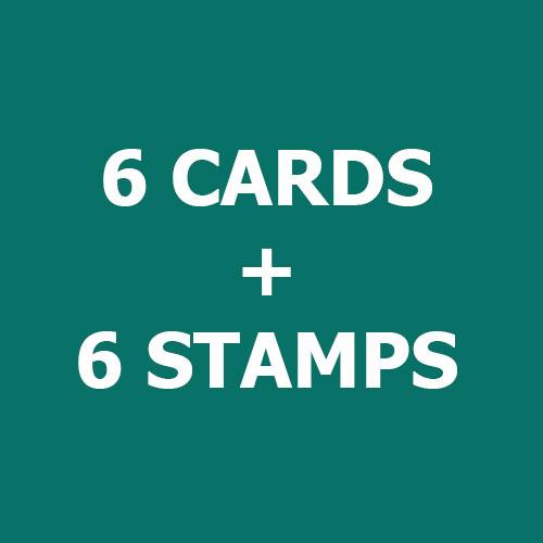Bundle-6CARDS+6STAMPS